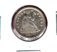 1842 SEATED LIBERTY DIME CLEANED  GREAT LOOKER BUY IT NOW C501