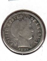 1892 BARBER DIME STRONG GOOD GRADE.YOU CAN BUY IT NOW C506