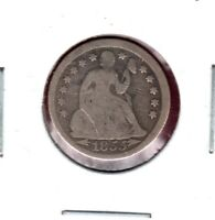 1855 SEATED LIBERTY DIME GRADES GOOD READ BUY IT NOW C507