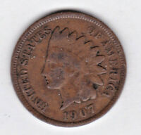 1907 INDIAN HEAD CENT IN GOOD  CONDITION : STK I 1011