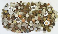 8  POUNDS OF OLD WORLD COINS  CANADA TURKEY UK    SEE SCANS