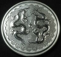 2018 NIUE DOUBLE DRAGON 1 OUNCE .999 FINE SILVER TWO DOLLAR