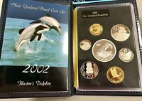 2002 NEW ZEALAND HECTOR'S DOLPHIN ANNUAL PROOF COIN SET   WI