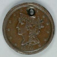 1850 BRAIDED HAIR HALF CENT 1/2C KEY DATE EXTRA FINE  EXTRA FINE DETAILS 8453