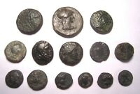 14 ANCIENT GREEK BRONZE COINS. REF. 5300.