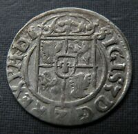 LATE MEDIEVAL GERMANIC CROSS COIN ANTIQUE 1622AD EUROPE SILV