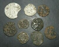 MEDIEVAL COIN LOT 9 TOTAL CRUSADER CROSS SILVER ANCIENT ANTI