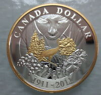 2011 CANADA 100TH ANN OF CANADIAN NATIONAL PARKS PROOF SILVE