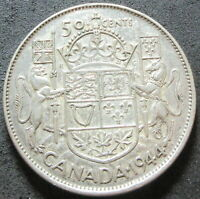1944 CANADA SILVER FIFTY CENT COIN