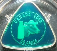 2008 CANADA PROOF STERLING SILVER 50 CENT HOLSTEIN MILK DELI