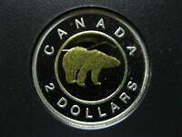 2013 CANADIAN SILVER PROOF TOONIE  $2.00    SCRATCH/SPOTS