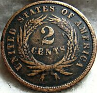 1865 2 CENT COIN 1 OF 3   CIVIL WAR COIN   GREAT SHAPE NICE