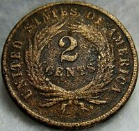 1865 2 CENT COIN 3 OF 3   CIVIL WAR COIN   VG/F SEE PICS