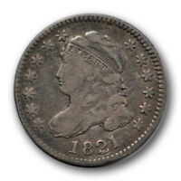 1821 10C LARGE DATE CAPPED BUST DIME  FINE TO EXTRA FINE CLEANED R1218