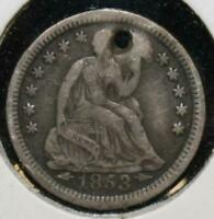 1853 O HALF DIME 5 FIVE CENTS SILVER 90 TYPE COIN