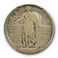 1916 25C STANDING LIBERTY QUARTER PCGS VG 8  GOOD CAC APPROVED
