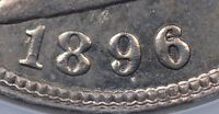 1896 LIBERTY NICKEL ANACS MINT STATE 62 REPUNCHED DATE FLYNN RPD-001   DATE