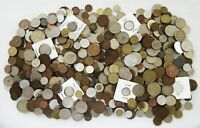 8  POUNDS OF OLD WORLD COINS > POSS. A FEW TOKENS > HUGE LOT