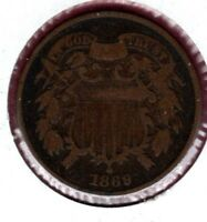1869 TWO CENT PIECE GRADES FULL GOOD.. COIN HERE  C479