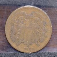 1869 TWO CENT PIECE - AG 21498