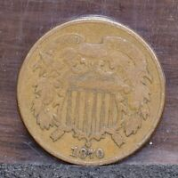 1870 TWO CENT PIECE - VG 21504