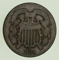 1871 TWO-CENT PIECE - CIRCULATED 8677