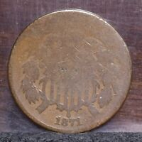 1871 TWO CENT PIECE - AG 21710