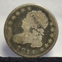 1814 BUST DIME - LARGE DATE - VG 21800
