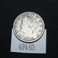 WEST POINT COINS  1888 V NICKEL