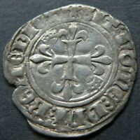 MEDIEVAL CRUSADER CROSS COIN ANTIQUE 1300 1400'S AD SILVER K