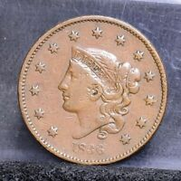 1836 LARGE CENT - VF DETAILS 22120