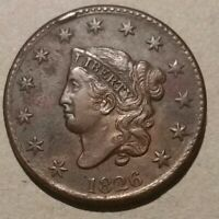 1826 MIDDLE DATE LARGE CENT HIGH GRADE AND MOSTLY BROWN