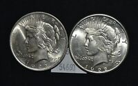 WEST POINT COINS  1922, 1922-S 2 PEACE SILVER DOLLARS $1