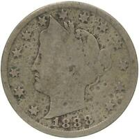 1888 LIBERTY V NICKEL PITTED GOOD DETAILS