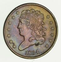 1834 CLASSIC HEAD HALF CENT - NEAR UNCIRCULATED 2463