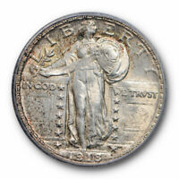 1918 D 25C STANDING LIBERTY QUARTER ICG MINT STATE 63 FH FULL HEAD UNCIRCULATED