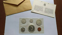 1965 CANADA MINT SET  UNCIRCULATED SILVER COIN SET WITH ENVE