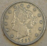1883 NO CENTS LIBERTY NICKEL EXTRA FINE -AU