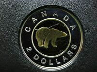 2002 CANADIAN SILVER PROOF TOONIE  $2.00   KEY DATE   DOUBLE