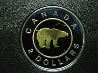 2001 CANADIAN SILVER PROOF TOONIE  $2.00    TONED