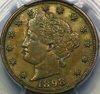 1898 LIBERTY HEAD V NICKEL 5C PCGS EXTRA FINE 45 SHARP LOOKING COIN E24