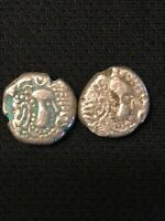 LOT OF  2  SILVER DRACHM 11TH CENTURY INDIA CHALUKYAS OF GUJ