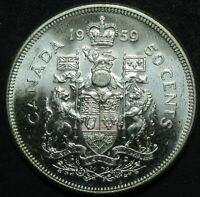 1959 CANADA SILVER FIFTY CENT COIN