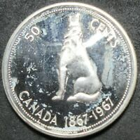 1967 CANADA PROOF LIKE SILVER FIFTY CENT COIN