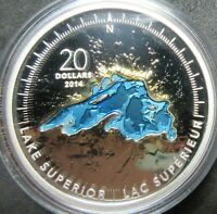 2014 CANADA THE GREAT LAKES: LAKE SUPERIOR 1 OUNCE .9999 FIN
