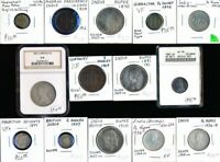 14 OLD UK & RELATED COINS  INCLUDING BRITISH INDIA  MUST SEE
