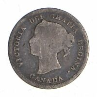 BETTER   1872 CANADA 5 CENTS   1.1 GRAMS   WORLD SILVER COIN