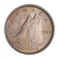 BETTER   1944 CANADA 10 CENTS   2.1 GRAMS   WORLD SILVER COI