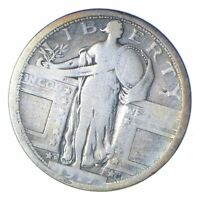 1917-D STANDING LIBERTY SILVER QUARTER - TYPE 1 - CIRCULATED 0391