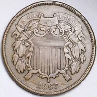 1867 TWO CENT PIECE CHOICE EXTRA FINE  SHIPS FREE E184 KET